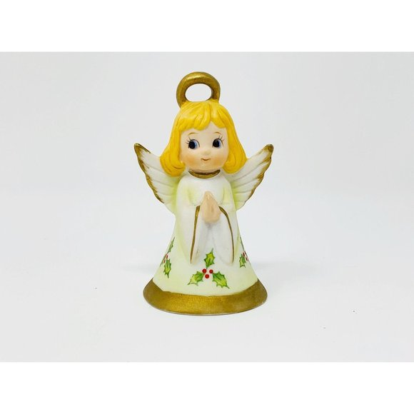 Vintage 1980s Lefton Christmas Bell Angel Bell